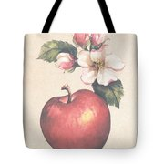 Apple And Blossoms Tote Bag