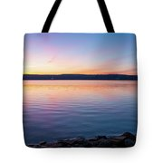 April Dawn On The Hudson River I Tote Bag