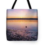 April Dawn On The Hudson River II Tote Bag