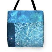 Aqua Agua Abstract Five Tote Bag