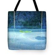 Aqua Agua And Leaf Tote Bag
