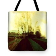 Arable Land Corridors In The Early Spring Tote Bag
