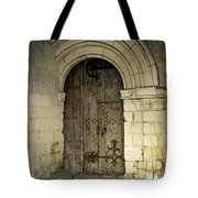 arched door at Fontevraud church Tote Bag