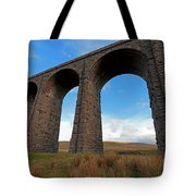 Arches And Piers Of The Ribblehead Viaduct North Yorkshire Tote Bag