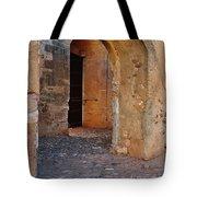 Arches Of A Medieval Castle Entrance In Algarve Tote Bag