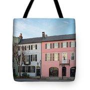 Architectural Photograph Of Rainbow Row On East Bay Street - Charleston South Carolina Tote Bag