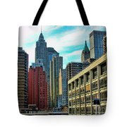 Architecture Nyc From Brooklyn Bridge  Tote Bag