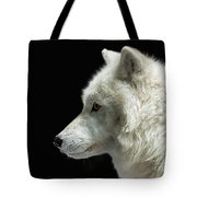 Arctic Wolf In Profile Tote Bag by Susan Rissi Tregoning