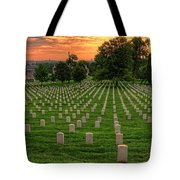 Arlington National Cemetery Sunrise Tote Bag