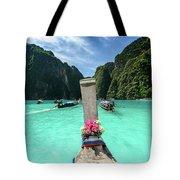 Arriving In Phi Phi Island, Thailand Tote Bag
