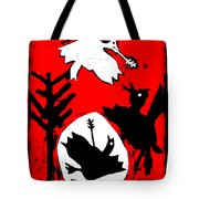 Arrow Shot Bird Tote Bag