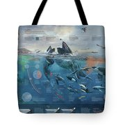 Artwork Depicting The Marine System Of The Pacific Coast. Tote Bag