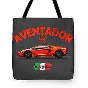 The Lamborghini Aventador Tote Bag