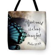 Lamp To My Feet Tote Bag