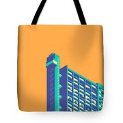 Trellick Tower London Brutalist Architecture - Plain Apricot Tote Bag
