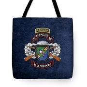 75th Ranger Regiment - Army Rangers Special Edition Over Blue Velvet Tote Bag