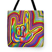 Radiating I Love You Tote Bag