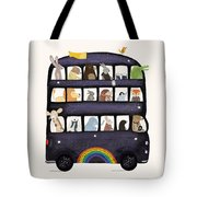 The Rainbow Bus Tote Bag