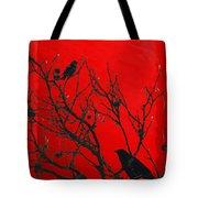 Raven - Black Over Red Tote Bag