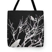 Raven - White Over Black Tote Bag