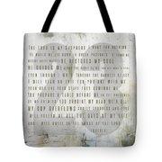 Psalm 23 Light Tote Bag