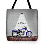 The Sportster Vintage Motorcycle Tote Bag
