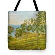 Beachhead Of Eucalyptuses Tote Bag by Angeles M Pomata