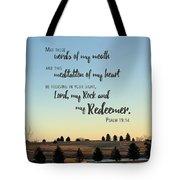 Meditation Of My Heart Tote Bag