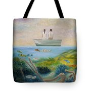 Seeing Through Tote Bag by Angeles M Pomata