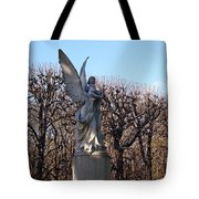 Girded By Trees, Light And An Angel Tote Bag
