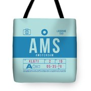Retro Airline Luggage Tag 2.0 - Ams Amsterdam Netherlands Tote Bag