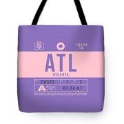 Retro Airline Luggage Tag 2.0 - Atl Atlanta United States Tote Bag