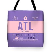 Retro Airline Luggage Tag 2.0 - Atl Atlanta United States Tote Bag