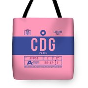 Retro Airline Luggage Tag 2.0 - Cdg Paris Charles De Gaulle France Tote Bag