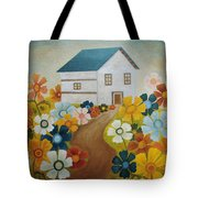 Fenced By The Joy Tote Bag by Angeles M Pomata