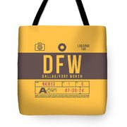 Retro Airline Luggage Tag 2.0 - Dfw Dallas Fort Worth United States Tote Bag