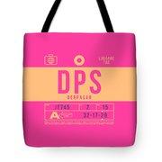 Retro Airline Luggage Tag 2.0 - Dps Denpasar Bali Indonesia Tote Bag