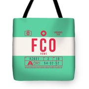 Retro Airline Luggage Tag 2.0 - Fco Rome Italy Tote Bag