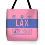 Retro Airline Luggage Tag 2.0 - Lax Los Angeles International Airport United States Tote Bag