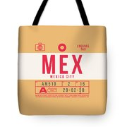 Retro Airline Luggage Tag 2.0 - Mex Mexico City International Airport Mexico Tote Bag