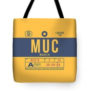 Retro Airline Luggage Tag 2.0 - Muc Munich International Airport Germany Tote Bag