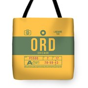 Retro Airline Luggage Tag 2.0 - Ord Chicago O'hare Airport United States Tote Bag