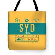 Retro Airline Luggage Tag 2.0 - Syd Sydney Kingsford Smith Airport Australia Tote Bag