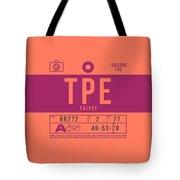 Retro Airline Luggage Tag 2.0 - Tpe Taipei Taoyuan Airport Taiwan Tote Bag