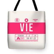 Retro Airline Luggage Tag 2.0 - Vie Vienna International Airport Austria Tote Bag