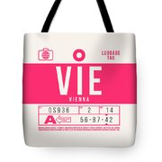 Retro Airline Luggage Tag 2.0 - Vie Vienna International Airport Austria Tote Bag