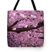 Cherry Blossom Tree Panorama Tote Bag