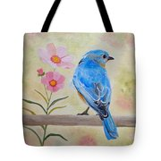Bluebird Prom Day Tote Bag by Angeles M Pomata