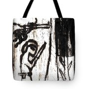 Assassin After Mikhail Larionov Black Oil Painting 10 Tote Bag