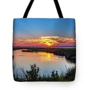 Assateague Island Sunset Tote Bag by Louis Dallara